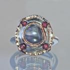 Silberring Black-Pearl